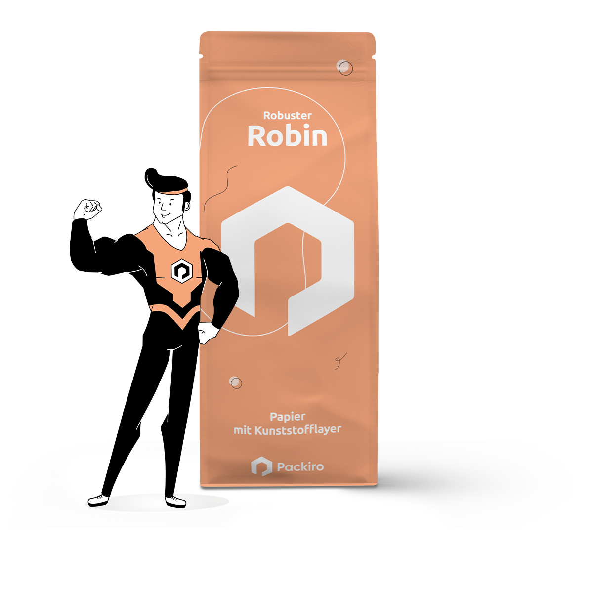 High-Protection Papierpouch - Robuster Robin - Packiro